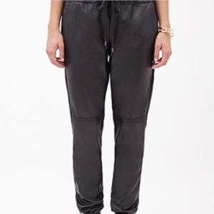 Forever 21 Faux Leather Joggers Sz. M